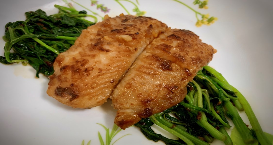 Sweet Glazed Fish with Vegetables